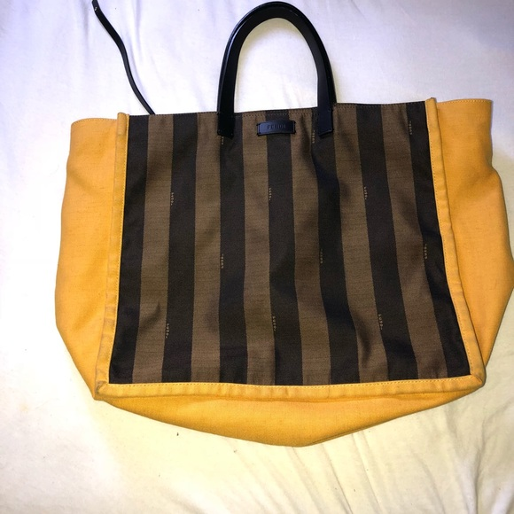 db1ed758e6 Fendi Handbags - Large fendi Pequin stripped tote
